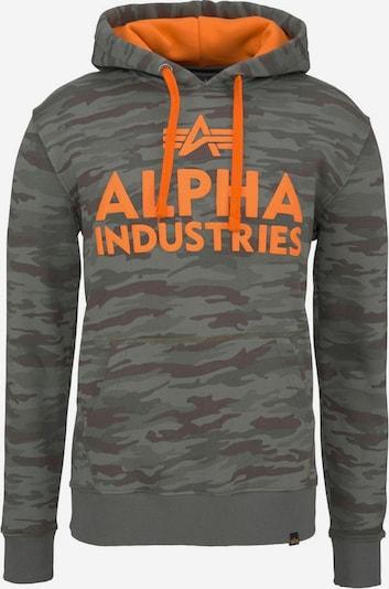 ALPHA INDUSTRIES Bluzka sportowa 'FOAM PRINT' w kolorze khaki / pomarańczowym, Podgląd produktu