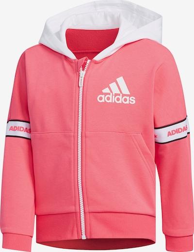 ADIDAS PERFORMANCE Sweatjacke 'LG FT KN' in pink / weiß, Produktansicht