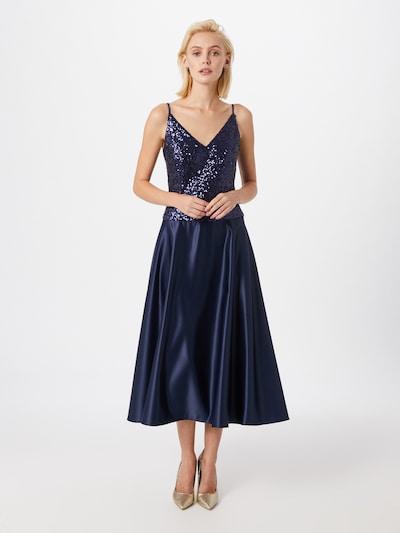 Rochie de cocktail SWING pe albastru marin, Vizualizare model