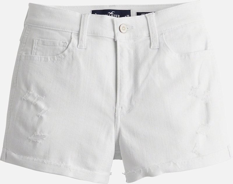 HOLLISTER Jeans 'SB19-WHITE DST RCC AS HR 3 IN SHORT' in white denim, Produktansicht