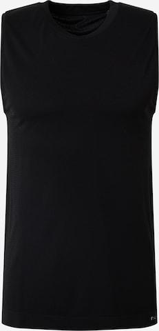 NU-IN Тениска 'Seamless Mesh Panel' в черно