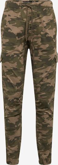 Laisvo stiliaus kelnės 'Levy' iš INDICODE JEANS , spalva - purvo spalva / rusvai žalia: Vaizdas iš priekio