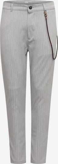 Pantaloni 'Jim CR' !Solid pe gri deschis / alb, Vizualizare produs