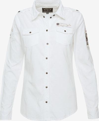 Soccx Bluse in beige / weiß, Produktansicht