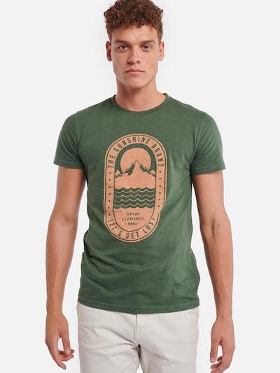Shiwi Shirt 'Tropics' in hellgrün: Frontalansicht