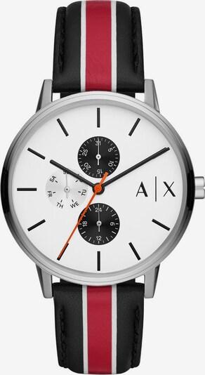 ARMANI EXCHANGE Uhr in silbergrau / rot / schwarz, Produktansicht