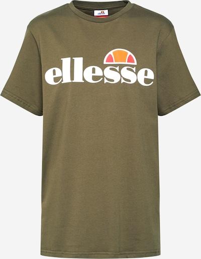 ELLESSE Tričko 'Albany' - kaki / oranžová / melónová / biela, Produkt