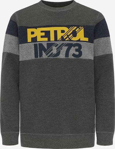 Petrol Industries Sweatshirt in gelb / dunkelgrau / grün, Produktansicht