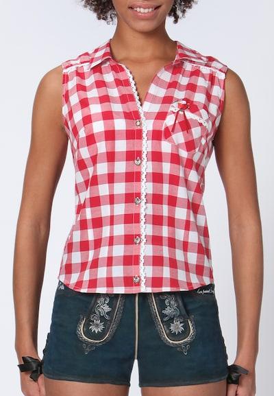 STOCKERPOINT Bluse Dalia in rot / weiß, Modelansicht