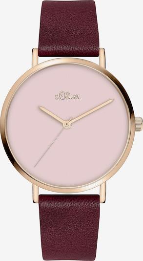 s.Oliver Uhr in beere / pastellpink, Produktansicht