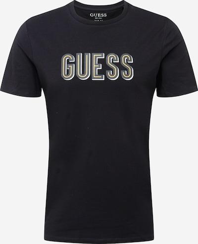 GUESS T-Shirt in gelb / grau / schwarz / weiß, Produktansicht