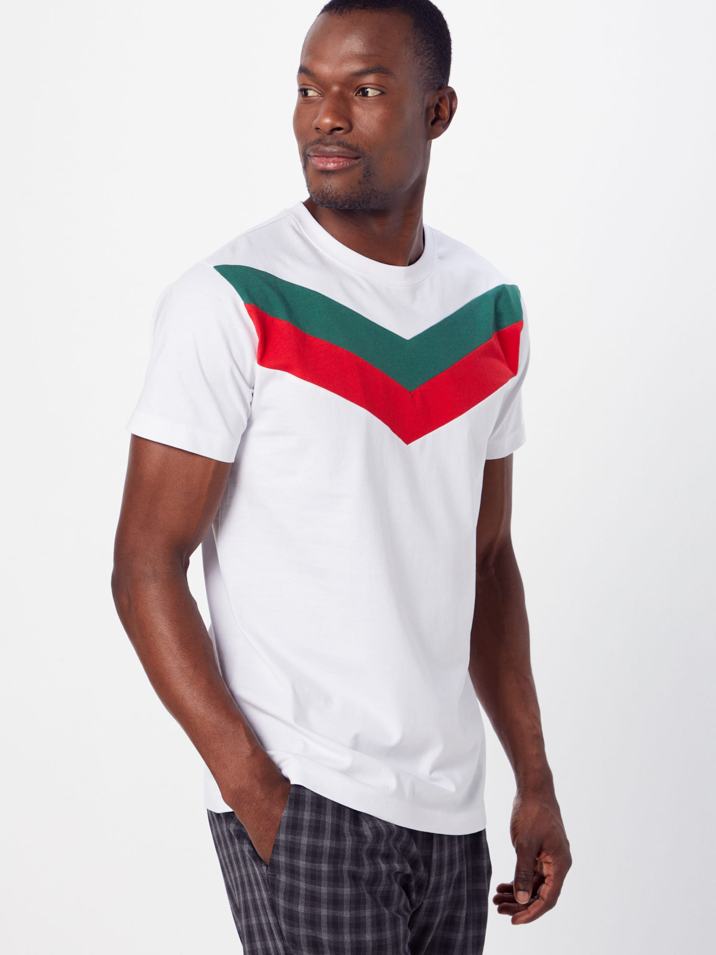 Classics Shirt 'arrow Tee' Weiß Panel Urban GrünRot In kZwOXnN80P