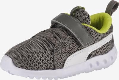 PUMA Sneaker 'Carson' in dunkelgrau / grün / weiß: Frontalansicht