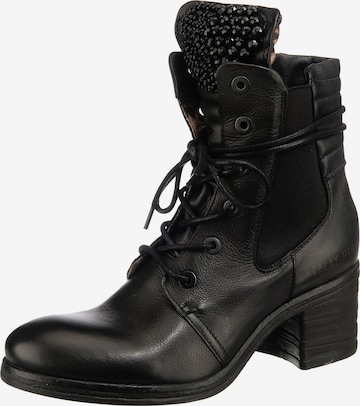 REPLAY Lace-Up Ankle Boots in Black