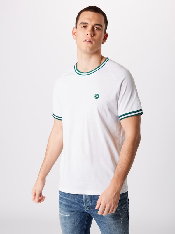 En Neck' Jones Crew 'jcoheming Ss FoncéBlanc Jackamp; Vert T Tee shirt Yf7ygb6
