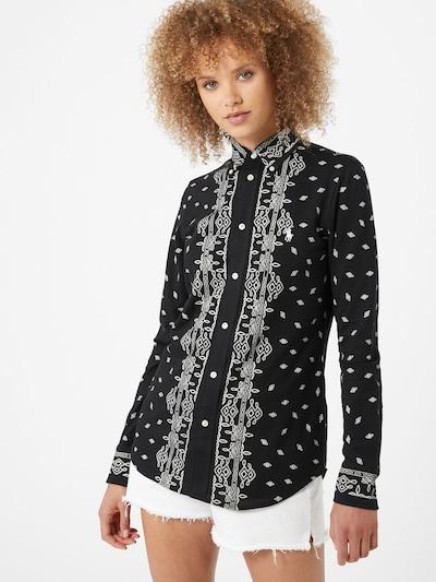 POLO RALPH LAUREN Bluse 'Heidi' in schwarz / weiß, Modelansicht