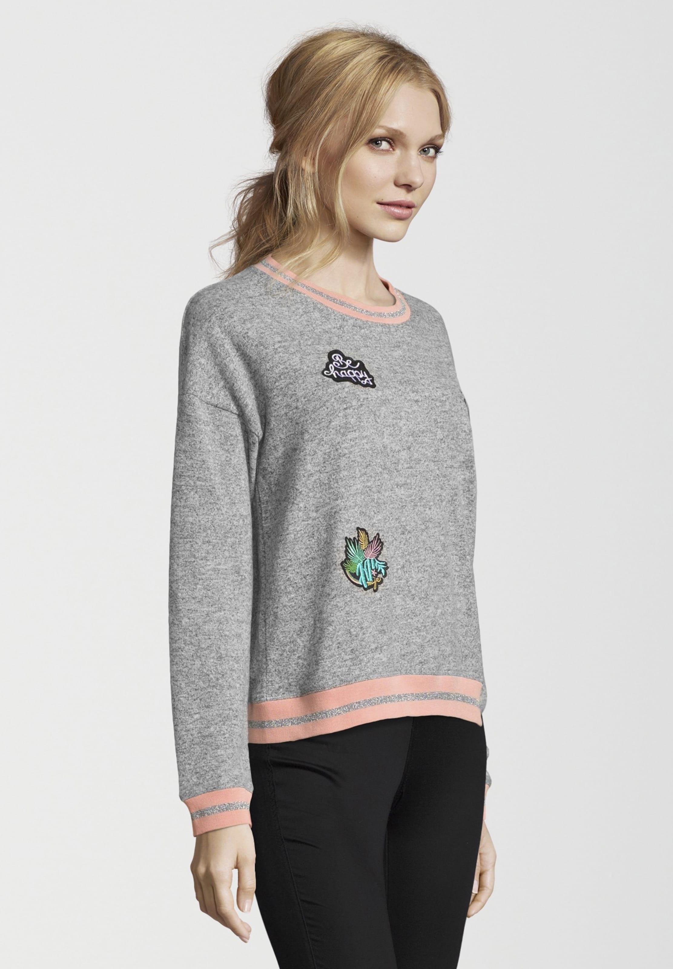 Kontrastreichen Mit Aufnähern Sweatshirt Frogbox Grau In Aq5LR34j
