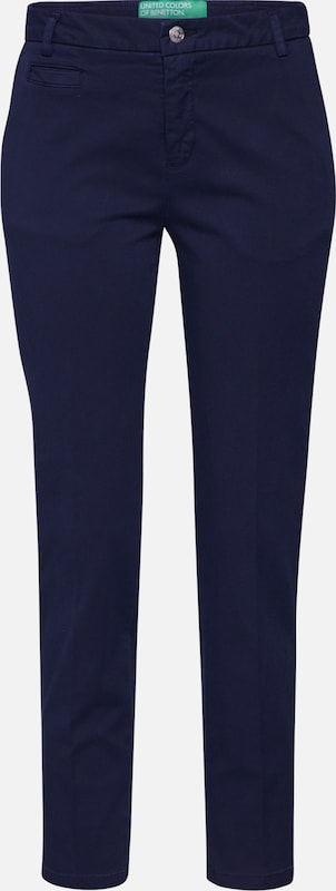 UNITED COLORS OF BENETTON Broek 'TROUSERS' in de kleur Navy, Productweergave