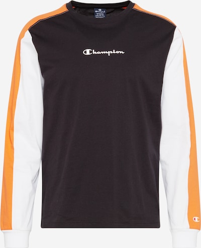 Champion Authentic Athletic Apparel T-Shirt en orange / noir / blanc: Vue de face
