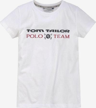 Tom Tailor Polo Team T-Shirt in rot / schwarz / weiß: Frontalansicht
