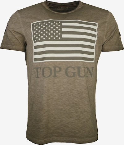 TOP GUN T-Shirt 'Search' in beige / khaki, Produktansicht