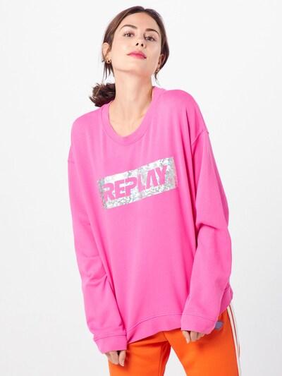 REPLAY Sweatshirt in pink, Modelansicht