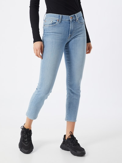 7 for all mankind Jeans 'ROXANNE ANKLE' in de kleur Blauw denim, Modelweergave