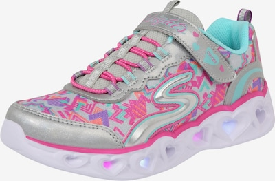SKECHERS Sneaker in rosa / silber, Produktansicht