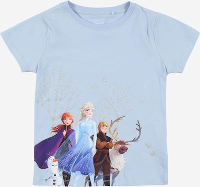 NAME IT T-Shirt 'Frozen Neel' en bleu clair / marron / violet, Vue avec produit