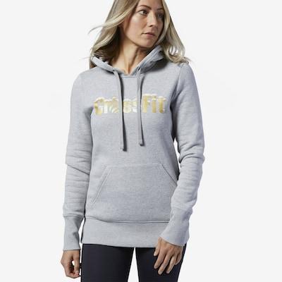 REEBOK Sportief sweatshirt 'CF Holiday Graphic OTH' in de kleur Goud / Grijs: Vooraanzicht
