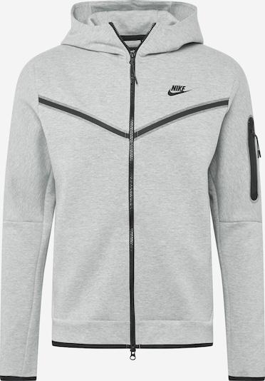 Nike Sportswear Fleecejacke in grau / schwarz, Produktansicht