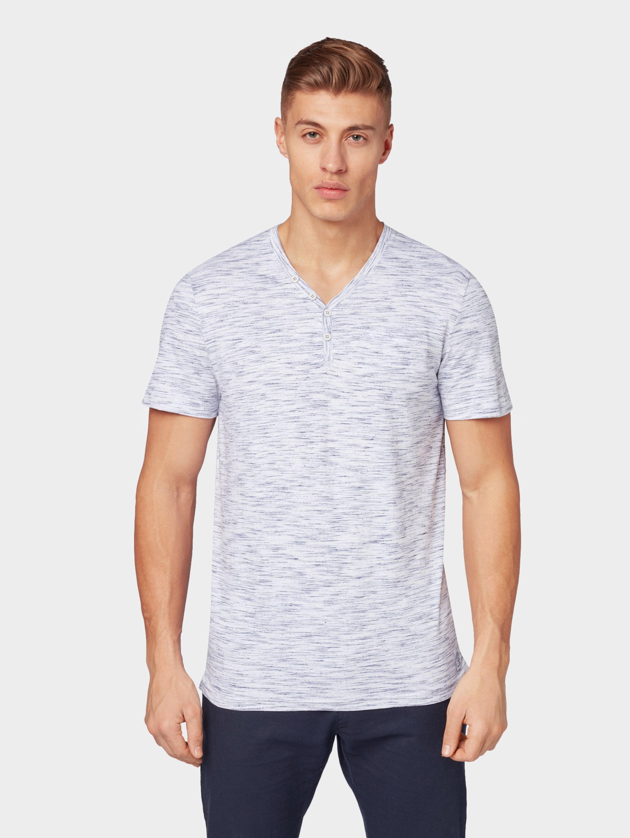 In Tom shirt Tailor Henley Blaumeliert 0O8PkXnw