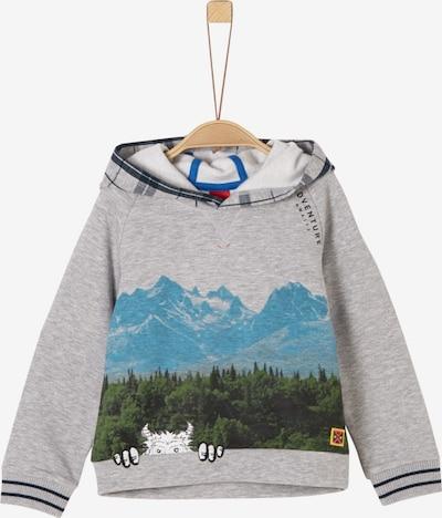 s.Oliver Sweatshirt in blau / grau / grün / schwarz / weiß, Produktansicht