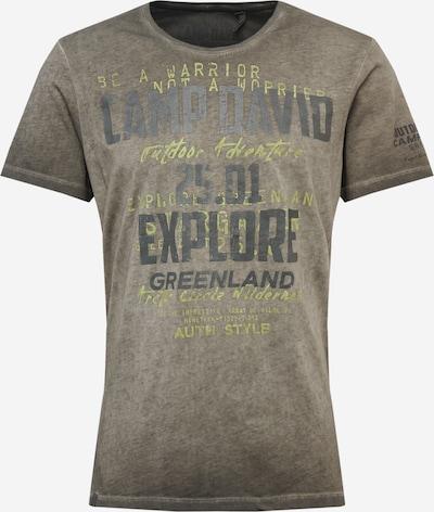 CAMP DAVID T-Shirt en kaki / vert clair / noir, Vue avec produit