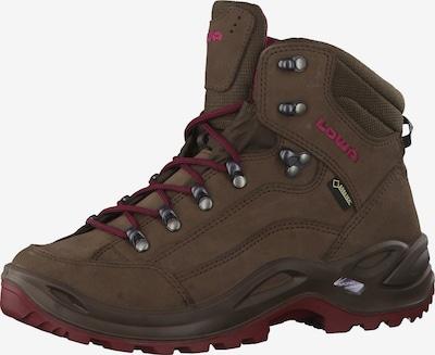 LOWA Boots 'Renegade' in Dark brown / Berry, Item view