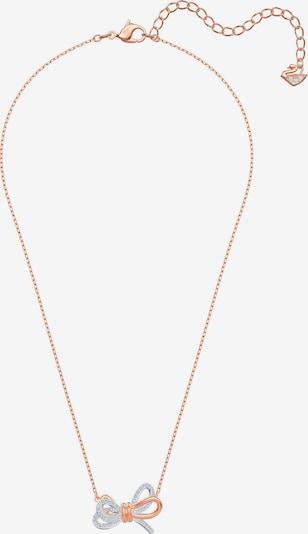 rózsaszín arany / ezüst / átlátszó Swarovski Lánc 'Lifelong Bow', Termék nézet