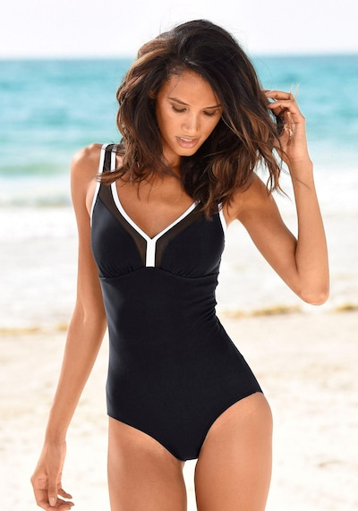 LASCANA Plavky - černá / bílá, Produkt