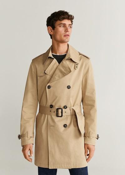 MANGO MAN Płaszcz przejściowy w kolorze beżowym, Podgląd na modelu(-ce)