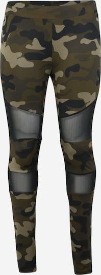 Urban Classics Curvy Leggings in braun / grün, Produktansicht
