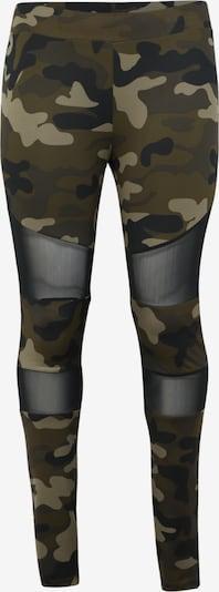 Urban Classics Curvy Retuusid 'Ladies Camo Tech Mesh Leggings' beež / pruun / roheline, Tootevaade
