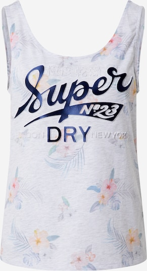 Superdry Top 'SUPER 23 TROPICAL AOP VEST' in mischfarben / weiß, Produktansicht