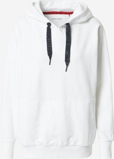ESPRIT SPORT Sweat de sport en noir / blanc, Vue avec produit