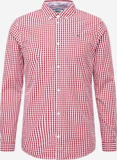 Tommy Jeans Košeľa - vínovo červená / biela, Produkt