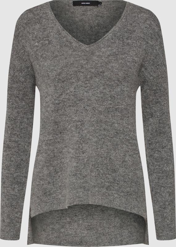 VERO MODA Pullover 'VMCUDDLE LS V-NECK BLOUSE' in graumeliert  Neue Kleidung in dieser Saison