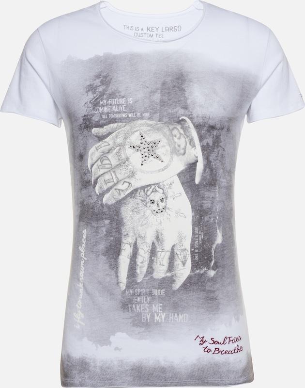 Key shirt Alive En Round' Largo T 'mt GrisBlanc D29EWIYH