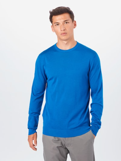 MANGO MAN Trui 'Willy' in de kleur Blauw: Vooraanzicht