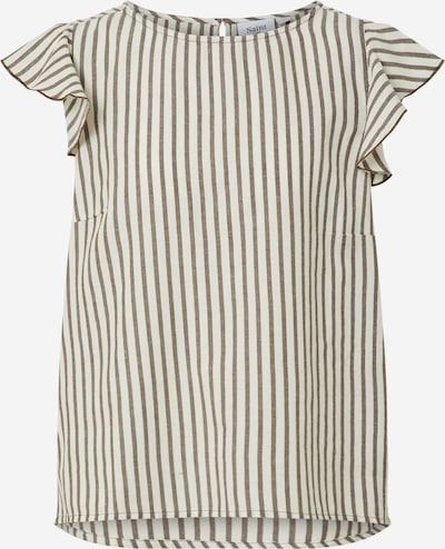SAINT TROPEZ Shirt 'Augusta' in creme / dunkelbraun, Produktansicht