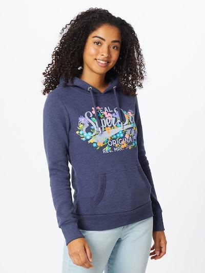 Superdry Sweter w kolorze nakrapiany niebieski / mieszane kolorym, Podgląd na modelu(-ce)