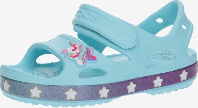 Crocs Sandale 'FunLab Unicorn Charm' in hellblau, Produktansicht
