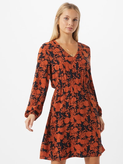 ABOUT YOU Robe 'Miriam' en bleu foncé / orange, Vue avec modèle